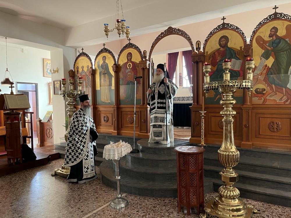 Η πρώτη Προηγιασμένη Θεία Λειτουργία στον Ιερό Ναό Οσίου Νίκωνος πόλεως Ιεράπετρας.