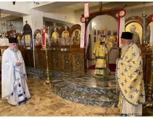 Αρχιερατική Θεία Λειτουργία και Μνημόσυνο στον Ι. Ναό Υπαπαντής του Κυρίου πόλεως Σητείας.