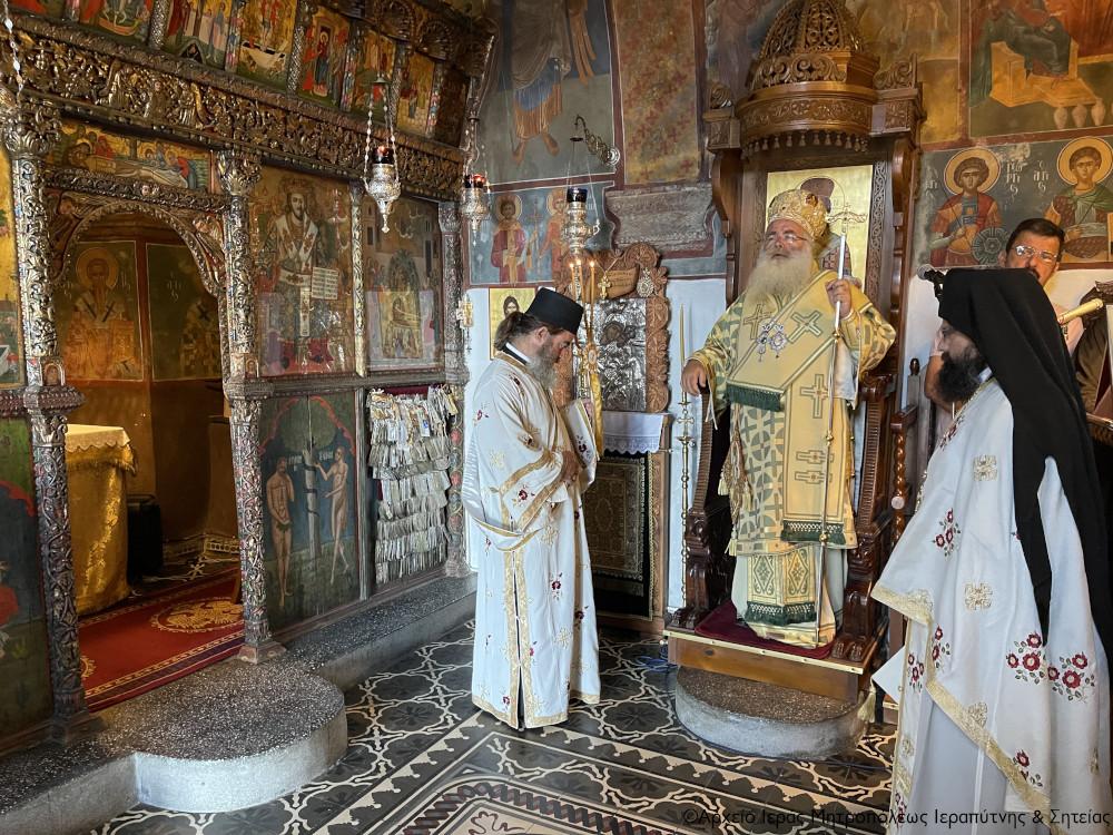 Αρχιερατική Θεία Λειτουργία στην Ιερά Μονή Παναγίας Φανερωμένης Ιεράπετρας.