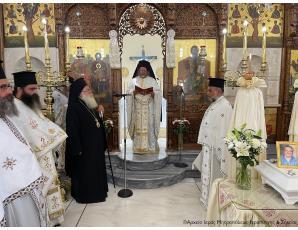 Ο Μέγας Πρωτοσύγκελλος του Οικουμενικού Πατριαρχείου κ. Θεόδωρος στον Ιερό Μητροπολιτικό Ναό του Αγίου Γεωργίου Ιεράπετρας.