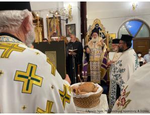 Ο Αρχιερατικός Εσπερινός της εορτής της Υψώσεως του Τιμίου Σταυρού στον πανηγυρίζοντα Ιερό Ναό της Ιεράπετρας.