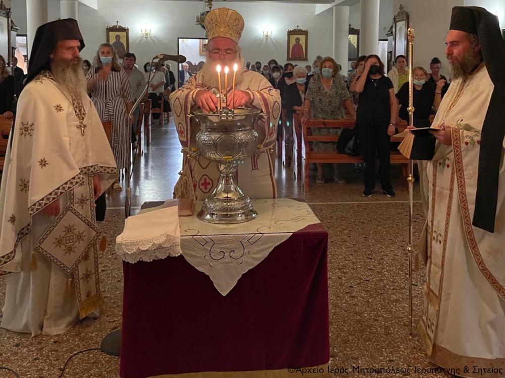 Αγρυπνία για την εορτή της Παναγίας της Γοργοϋπηκόου στον Ιερό Ναό Οσίου Νίκωνος του «Μετανοείτε» Ιεράπετρας.