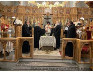 Ο Αγιασμός έναρξης των μαθημάτων στις Σχολές Βυζαντινής Μουσικής και Αγιογραφίας-Ψηφιδωτού της Ιεράς Μητροπόλεως Ιεραπύτνης και Σητείας στη Σητεία.