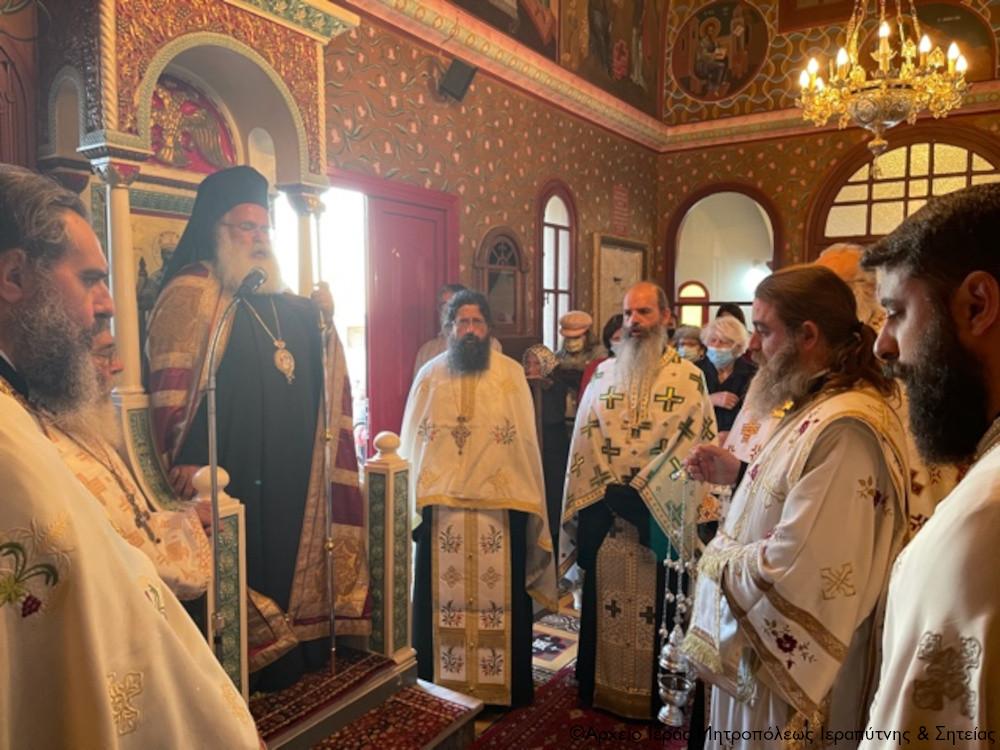 Ο Αρχιερατικός Εσπερινός της εορτής του Οσίου Ιωάννου του Ερημίτου στο φερώνυμο Επισκοπικό Παρεκκλήσιο Ιεράπετρας.