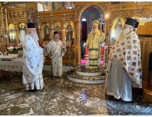 Αρχιερατική Θεία Λειτουργία στον Ιερό Ναό Παναγίας Ελεούσας Ιεράπετρας.