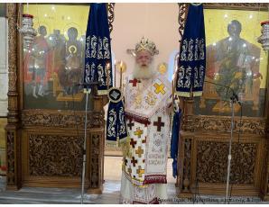 Αρχιερατική Θεία Λειτουργία στον Ιερό Μητροπολιτικό Ναό Αγίου Γεωργίου Ιεράπετρας.
