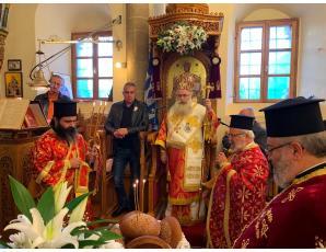 Αρχιερατική Θεία Λειτουργία στην Ενορία Αγίου Στεφάνου Δ.Ε. Μακρύ Γιαλού Ιεράπετρας
