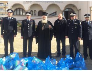 Τρόφιμα και είδη πρώτης ανάγκης από τη Αστυνομική Διεύθυνση Λασιθίου στην Ιερά Μητρόπολη Ιεραπύτνης και Σητείας