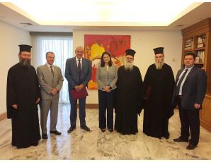 Συνοδική Αντιπροσωπεία της Εκκλησίας Κρήτης συναντήθηκε με την Υπουργό Παιδείας και Θρησκευμάτων κ. Άννα Κεραμέως