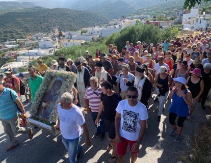 Ματαίωση της λιτανείας για τη μεταφορά της Εικόνας της Παναγίας της Φανερωμένης στην ομώνυμη Ιερά Μονή στον Τράχηλα Σητείας.