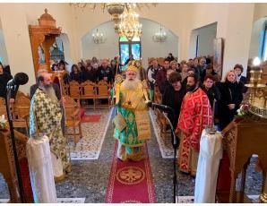 Αρχιερατική Θεία Λειτουργία και μνημόσυνο στην Ενορία Μύρτου Ιεράπετρας