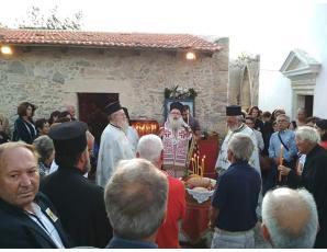 Αρχιερατικός Εσπερινός στην πανηγυρίζουσα Ενοριακή Μονή Αγίας Σοφίας Αρμένων Σητείας