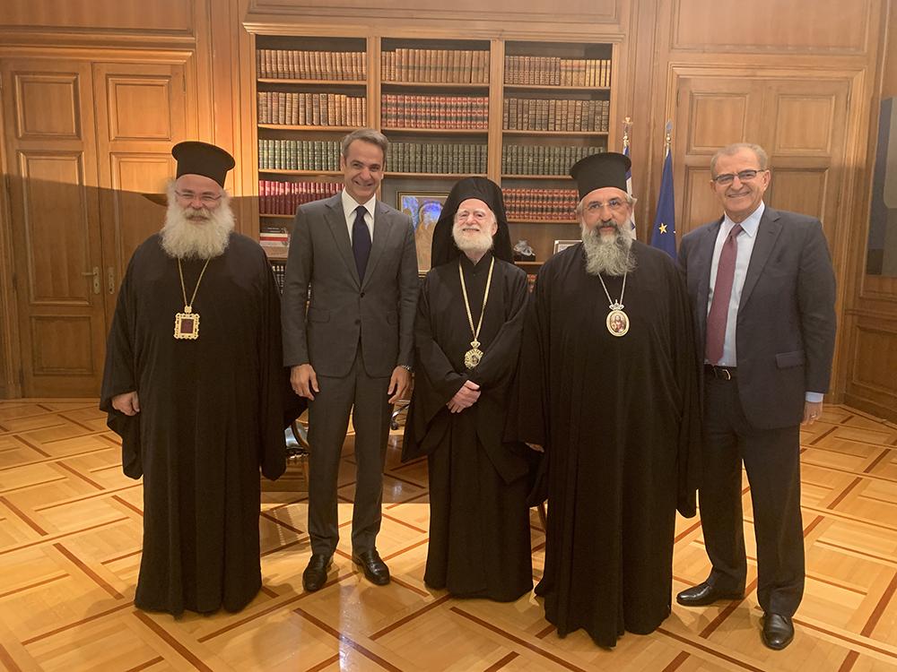 Συνάντηση Συνοδικής Αντιπροσωπείας της Εκκλησίας Κρήτης με τον Πρωθυπουργό κ. Κυριάκο Μητσοτάκη