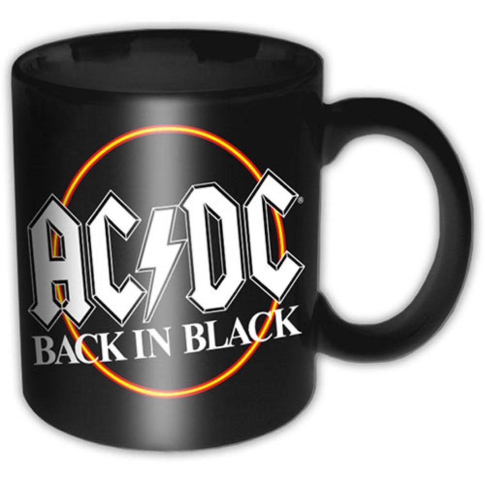 AC/DC BOXED STANDARD MUG: BACK IN BLACK CIRCLE