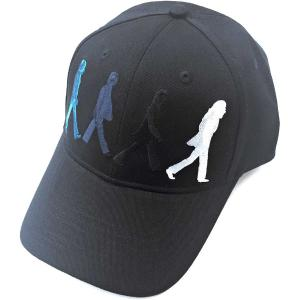THE BEATLES UNISEX BASEBALL CAP: ABBEY ROAD FIGURES