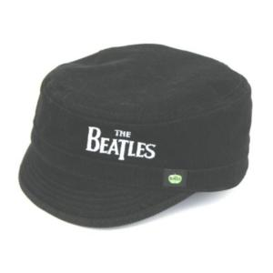 THE BEATLES UNISEX MILITARY STYLE HAT: DROP T LOGO