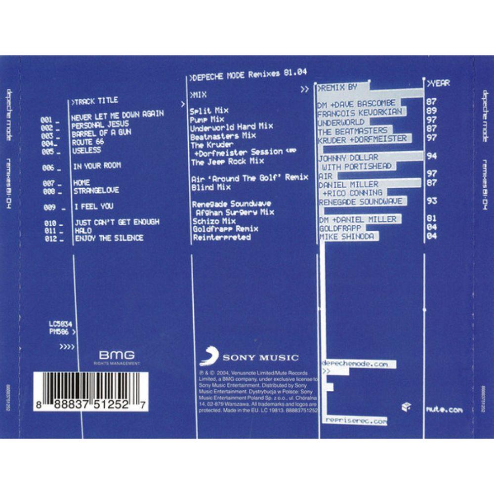 Depeche Mode – Remixes 81·04  - 1