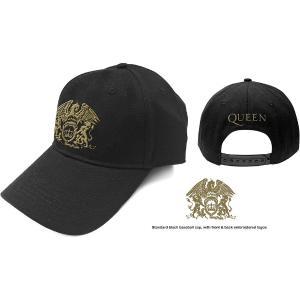 QUEEN UNISEX BASEBALL CAP: GOLD CLASSIC CREST