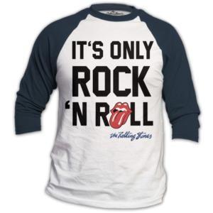 THE ROLLING STONES UNISEX RAGLAN TEE: ONLY ROCK N' ROLL