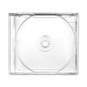 ΘΗΚΗ CD/DVD Μονής Θέσης - Σκληρή Πλαστική 10mm (JEWEL CASE) - Διάφανο Διαχωριστικό