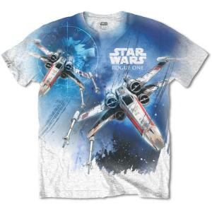 STAR WARS UNISEX SUBLIMATION TEE: ROGUE ONE X-WING