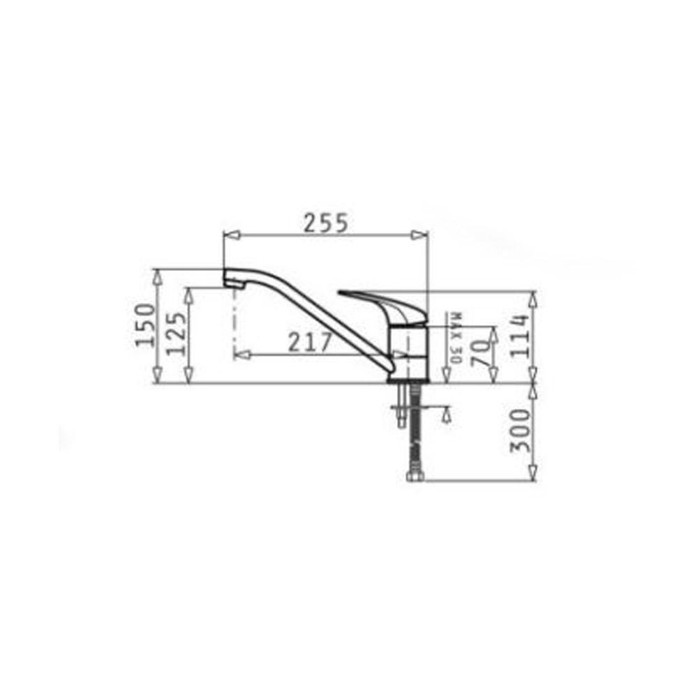 Σετ νεροχύτης E33 46,5x43x5 & μπαταρία Accel Pyramis