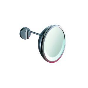 Καθρέπτης επίτοιχος με λάμπα φθορίου Φ23cm Hotellerie AV158ACR Inda - 24433