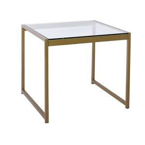 Τραπεζάκι σαλονιού τετραγ. steel χρυσό-γυαλί tempered Toledo - 24860