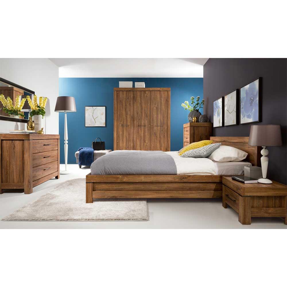 Κρεβάτι Gent stirling oak για στρώμα 160 εκ. Πλάτος × 200 εκ. Μήκος BRW