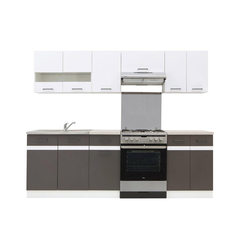 Πακέτο Κουζίνας Junona 240 white/grey BRW