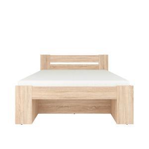 Κρεβάτι Nepo Plus Sonoma για στρώμα 200x140cm Brw - 23924