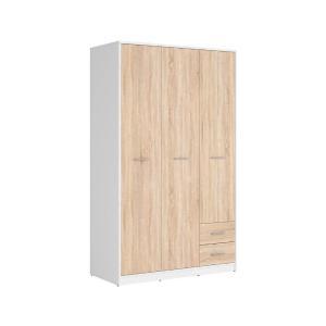 Ντουλάπα τρίφυλλη Nepo Plus white/sonoma 118,5x54,5x197 Brw - 23919