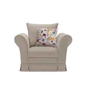 Πολυθρόνα Margaret Μπεζ Brw - 25029