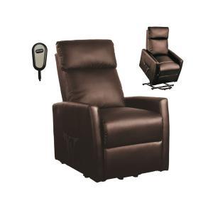 Πολυθρόνα lift-relax pu καφέ Cortina - 23777