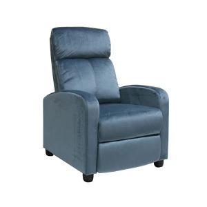 Πολυθρόνα relax γκρι-μπλε velure Porter - 24775