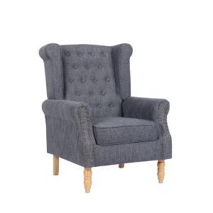 Πολυθρόνα ξύλο/ύφασμα Rosy - 25469