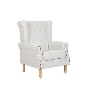 Πολυθρόνα ξύλο/ύφασμα Rosy - 25470