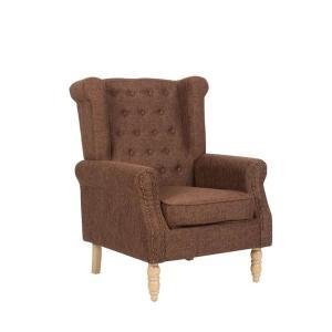 Πολυθρόνα ξύλο/ύφασμα Rosy - 25471