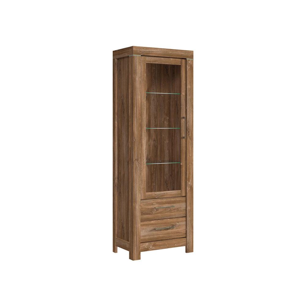 Βιτρίνα Gent stirling oak 68x42x200,5 BRW