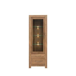 Βιτρίνα Gent stirling oak 68x42x200,5 BRW - 24750