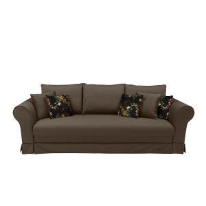 Καναπές-κρεβάτι 3θέσιος Margaret καφέ 254x101x92 Brw - 28258