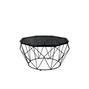 Τραπεζάκι σαλονιού οκτάγωνο μαύρο Grid - 24862