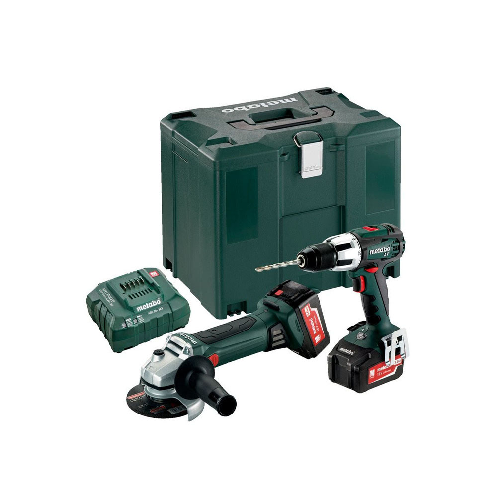 Metabo 18 Volt Combo Set Μπαταρίας 2.4.2 18 V SB 18 LT & W 18 LTX 125 Quick (685039000)