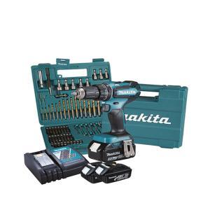 MAKITA IMPACT DRILL SCREWDRIVER 18V 13 mm - 50 Nm - BL - ACCESSORIES (DHP485FJX1)