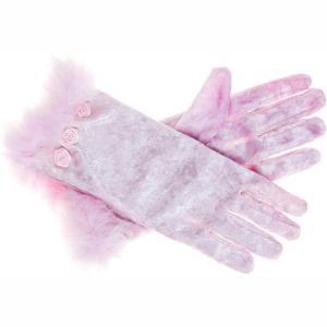 Souza Βελούδινα Γάντια Gladys Pink 101608