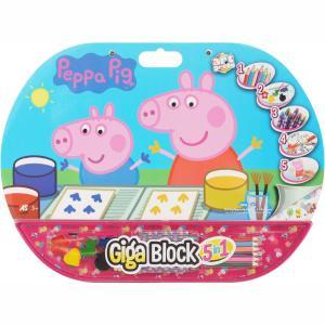 Σετ Ζωγραφικής Giga Block 5 in 1 Peppa