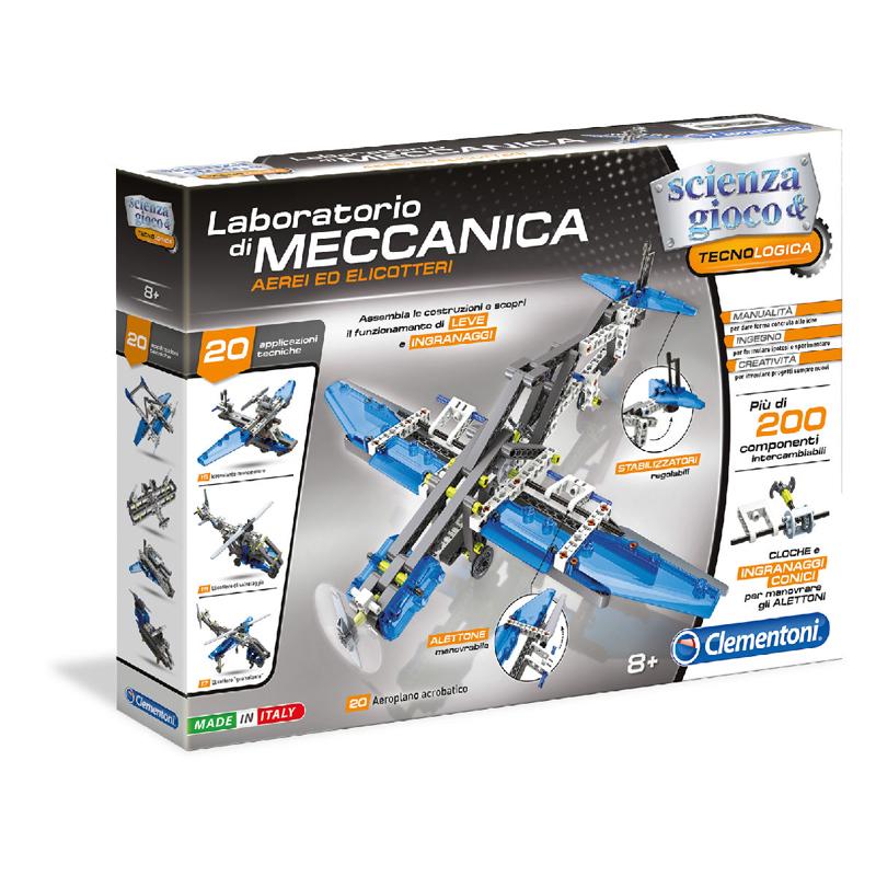 Clementoni Μαθαίνω & Δημιουργώ Εργαστήριο Μηχανικής Αεροπλάνα & Ελικόπτερα 1026-63841