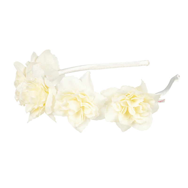 Souza Στέκα Μαλλιών με λευκά λουλούδια 105451