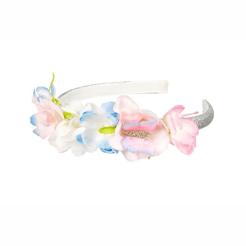 Souza Στέκα μαλλιών με glitter & λουλούδια Marla 105454