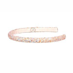 Souza Tiara Kaylee Στέκα Μαλλιών με ροζ χρυσό glitter 105656